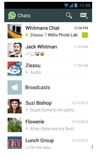 interfaz whatsapp